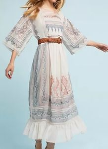 Anthropologie Maeve embroidered Maxi Dress